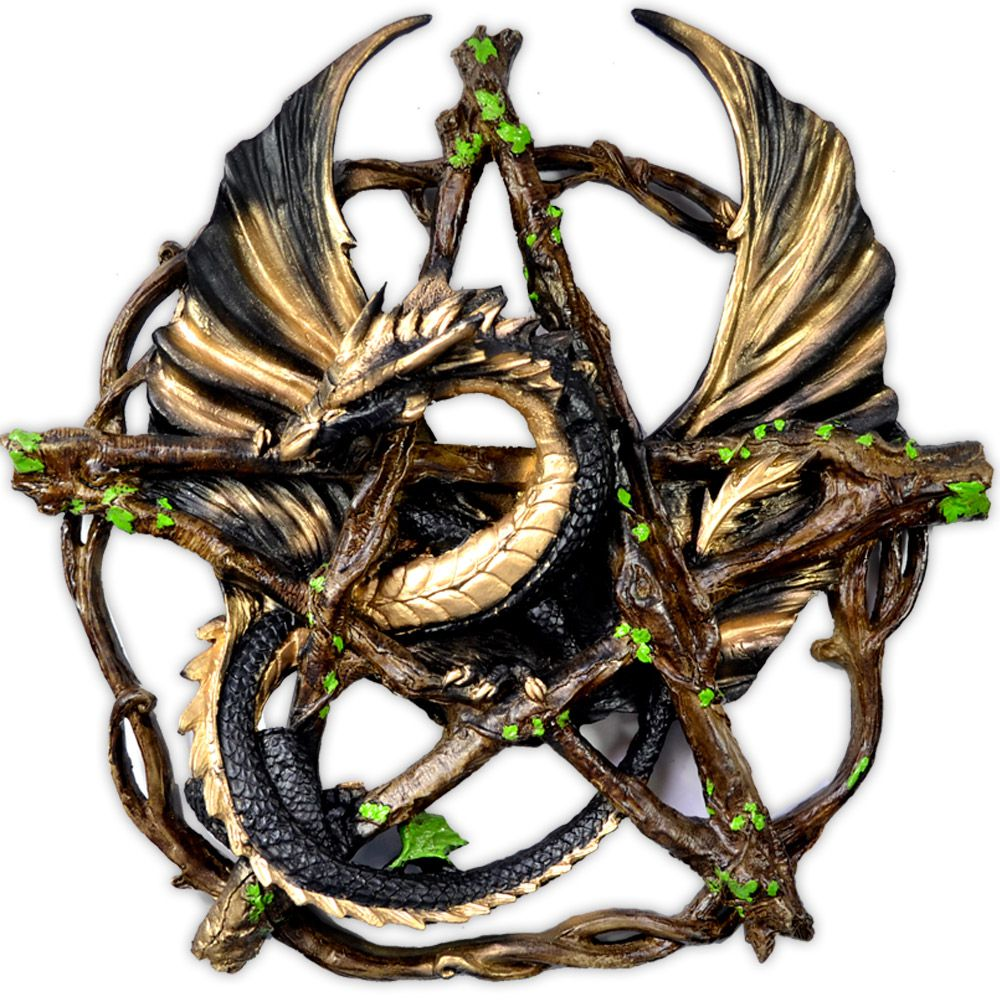Dragão no Pentagrama - Preto