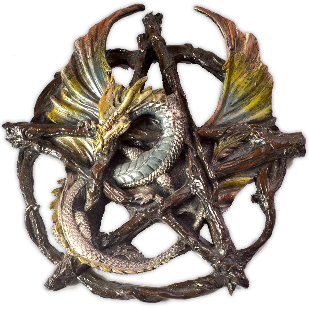 Dragão no Pentagrama - Verde