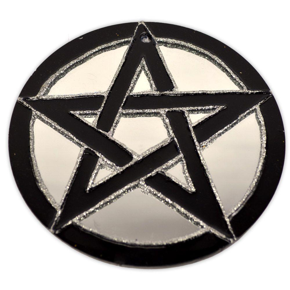 Espelho Pentagrama - Preto