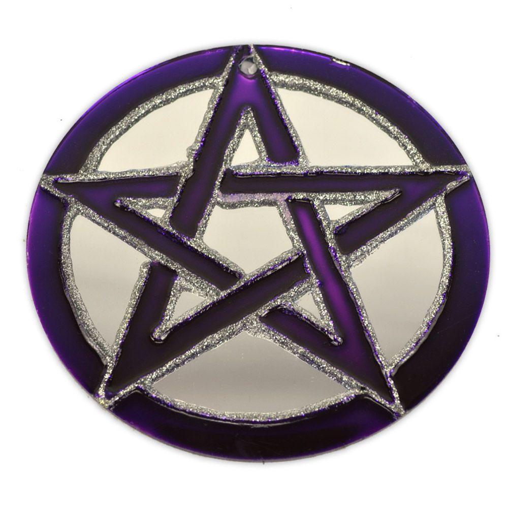 Espelho Pentagrama roxo