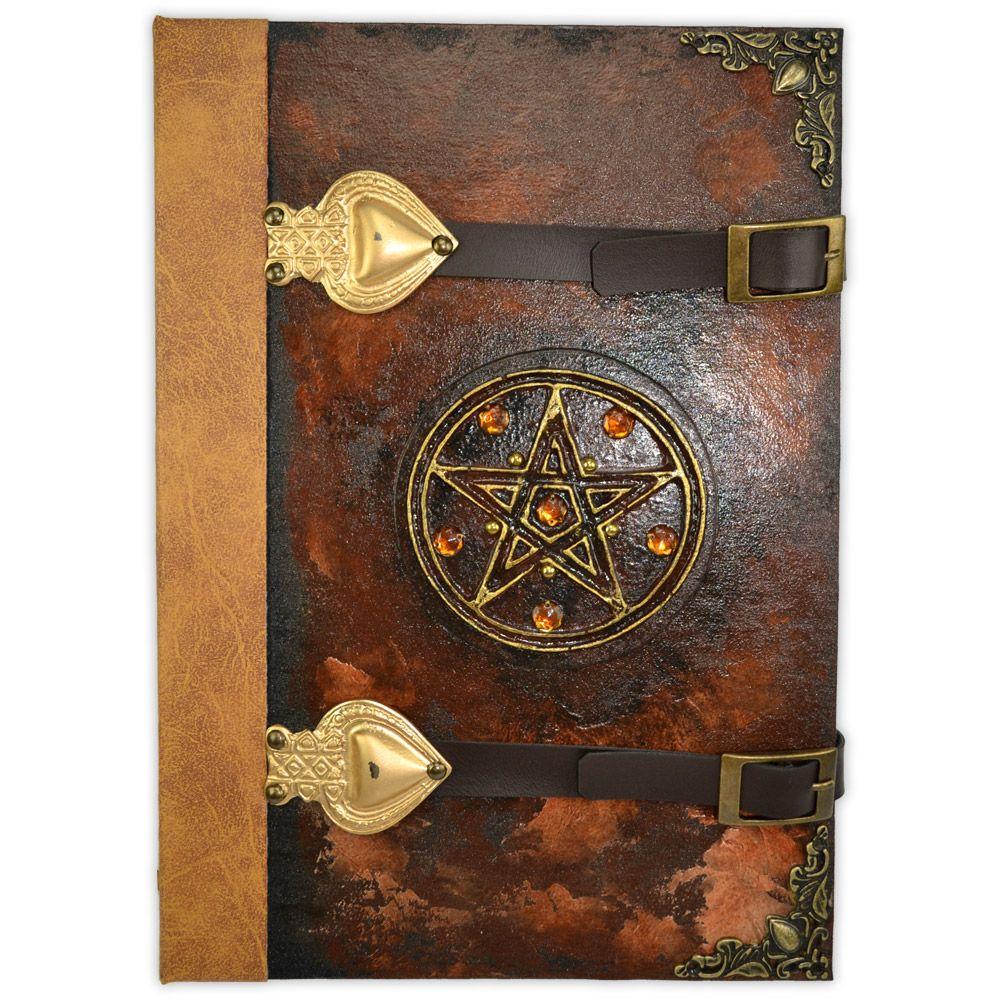 Grimório Tam. 31x22cm 250 pág. (sem pautas) - Pentagrama Marrom