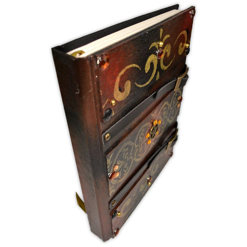 Grimório Tam. 16x22cm 300 pág. (sem pautas) - Pentagrama
