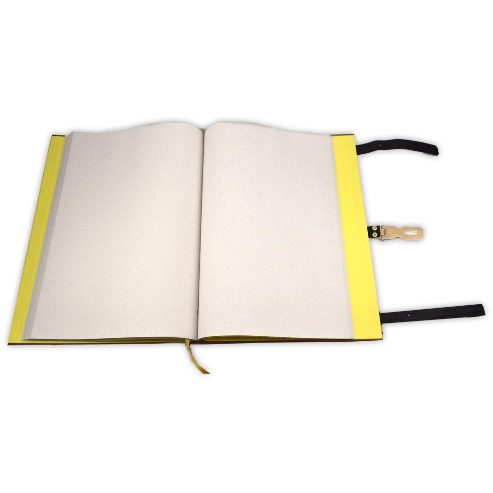 Grimório Tam. 31x22cm 250 pág. (sem pautas) - Marrom