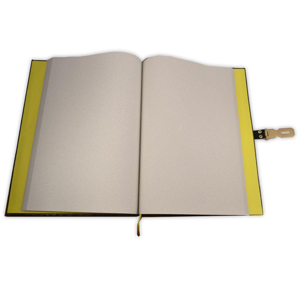 Grimório Tam. 31x22cm 250 pág. (sem pautas) - Chave