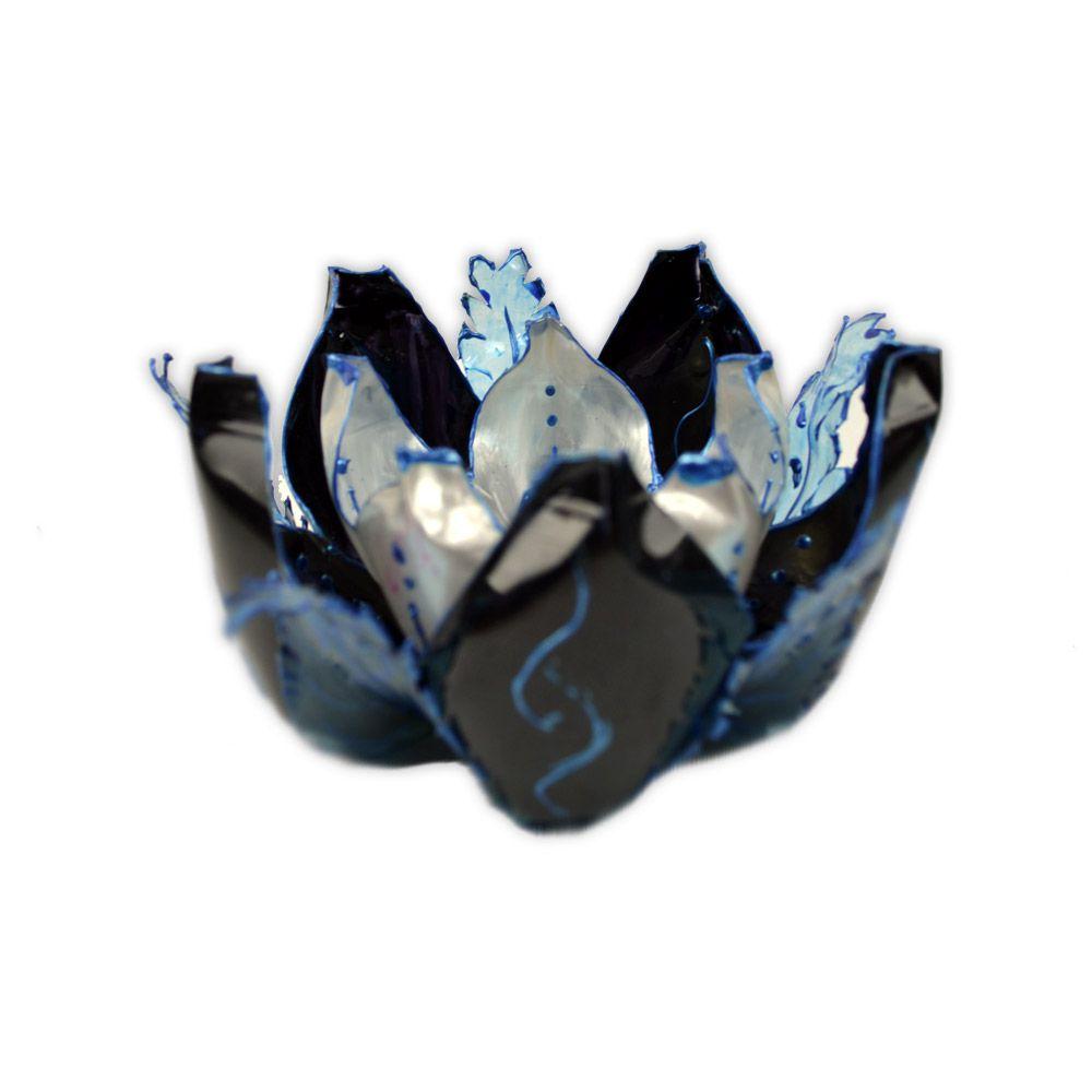 Incensário de PET - Flor de Lótus Modelo 3