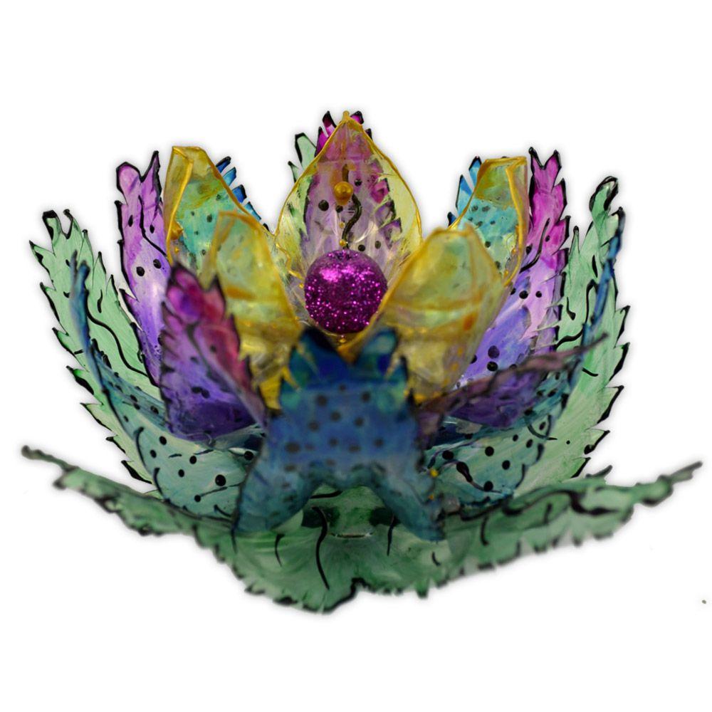 Incensário de PET - Flor de Lótus Modelo 1