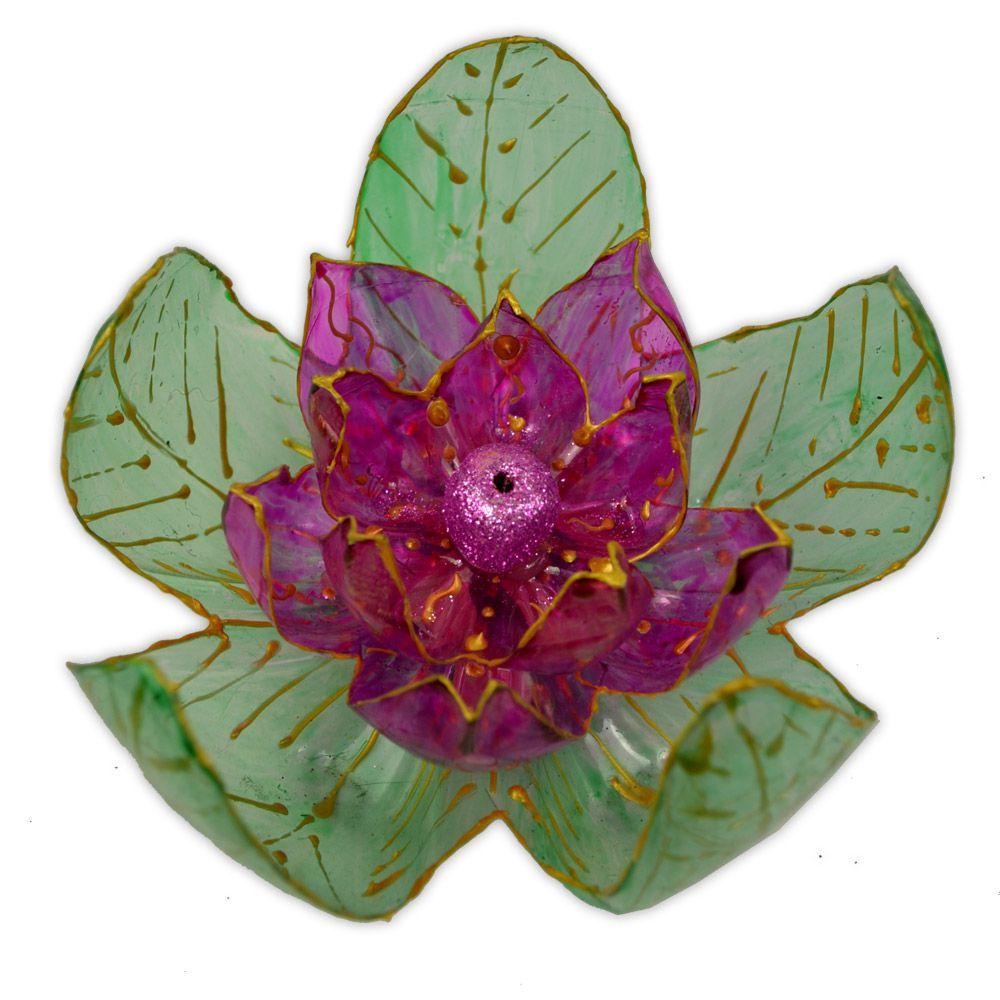 Incensário de PET - Flor de Lótus Modelo 2