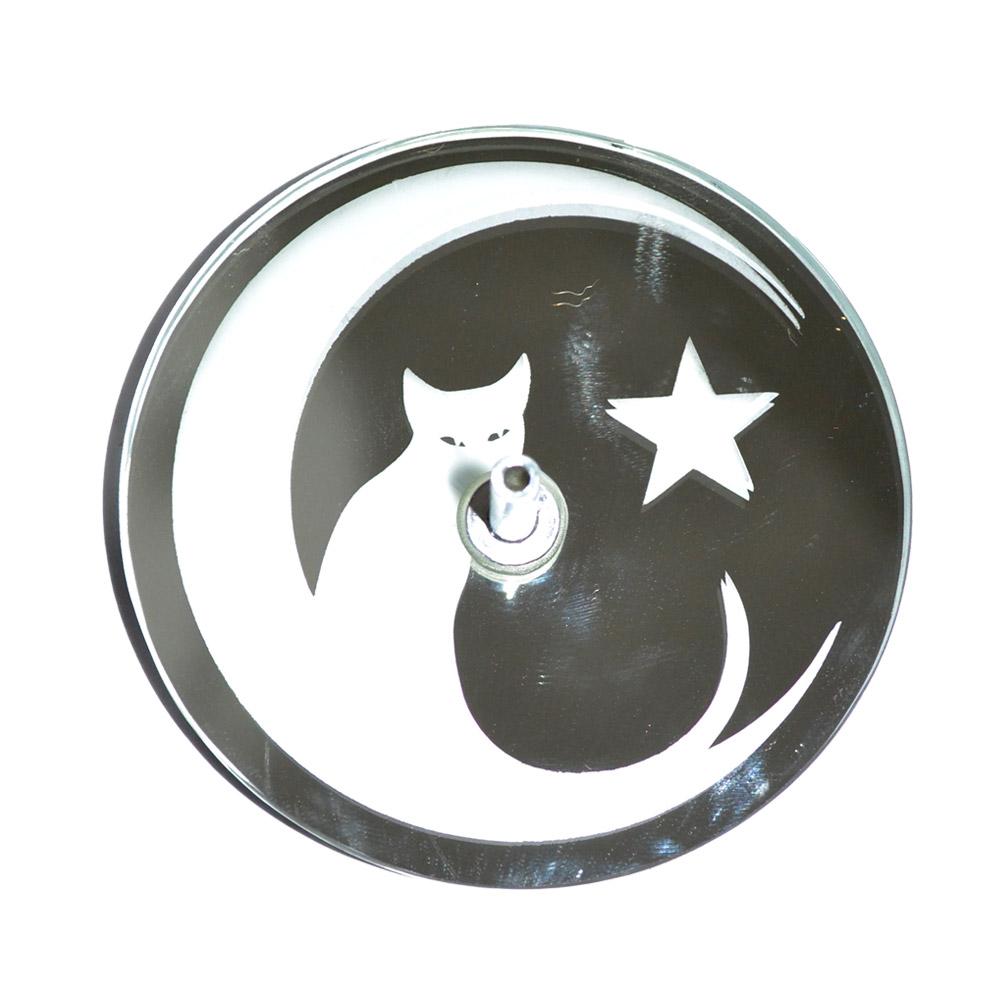 Incensário de Vidro - gato na lua