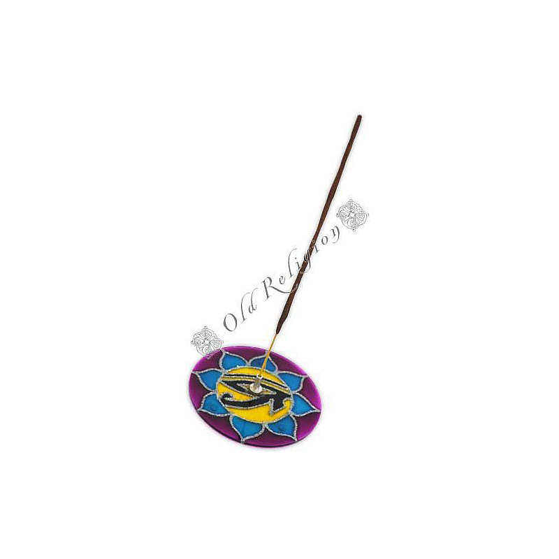 Incensário de Vidro - Mandala Olho de Hórus