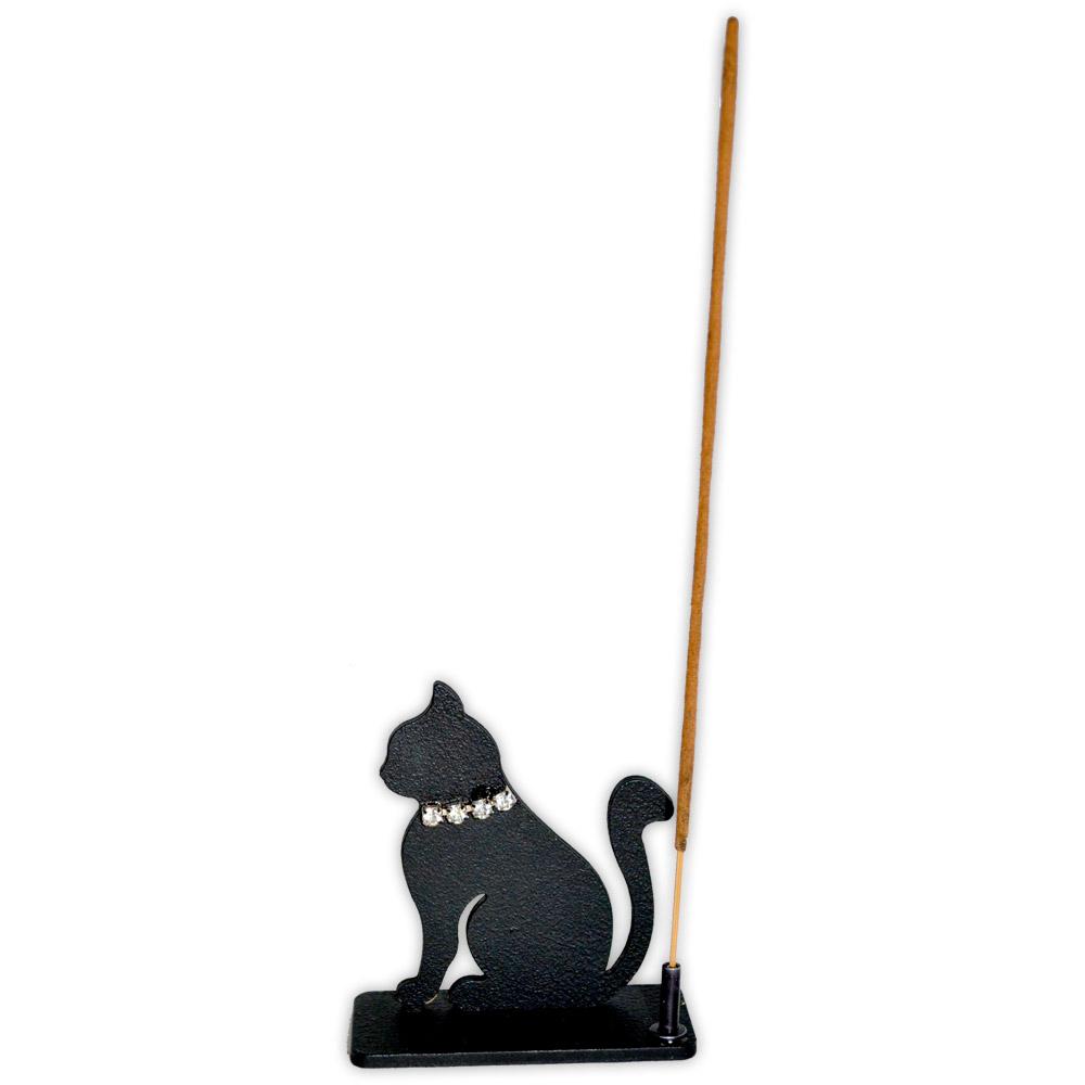 incensário gato preto