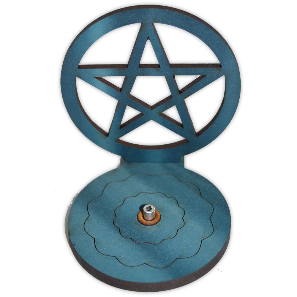 Incensário Pentagrama azul