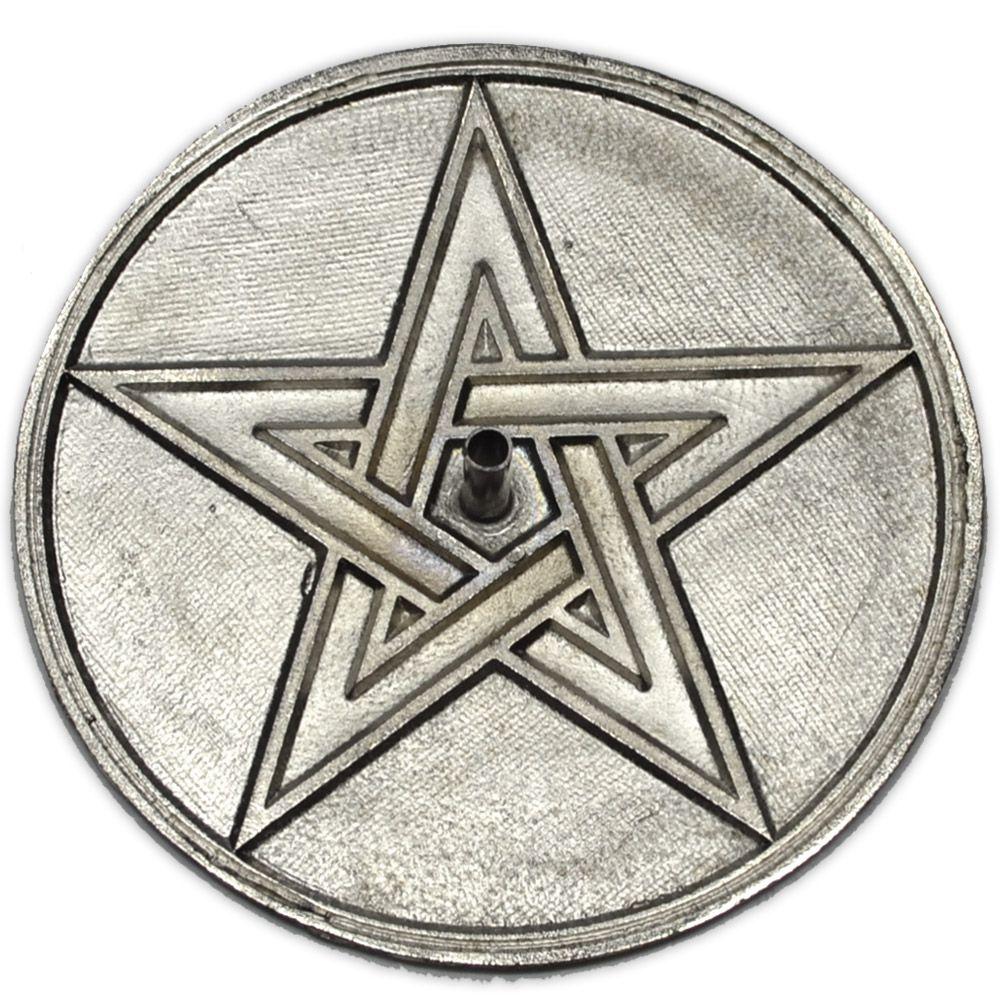 Incensário Pentagrama de Metal