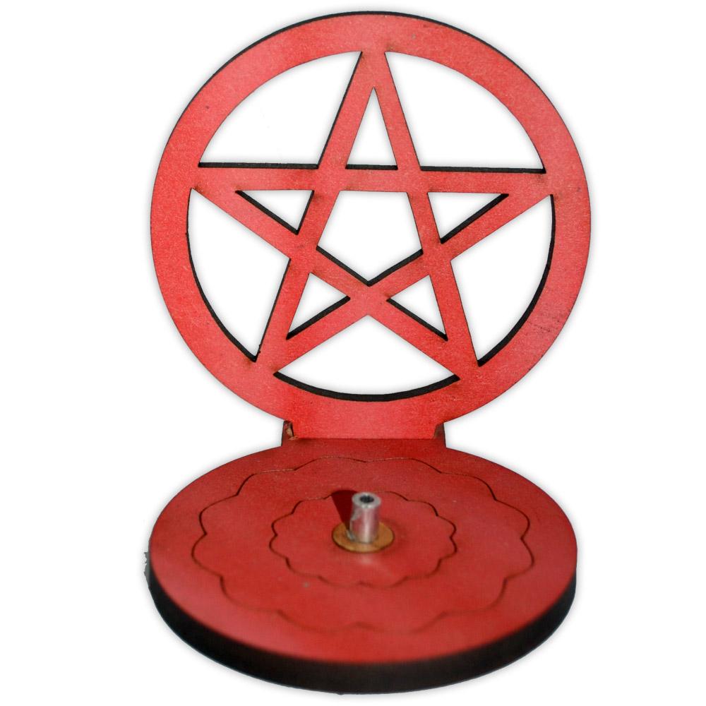 Incensário Pentagrama - vermelho