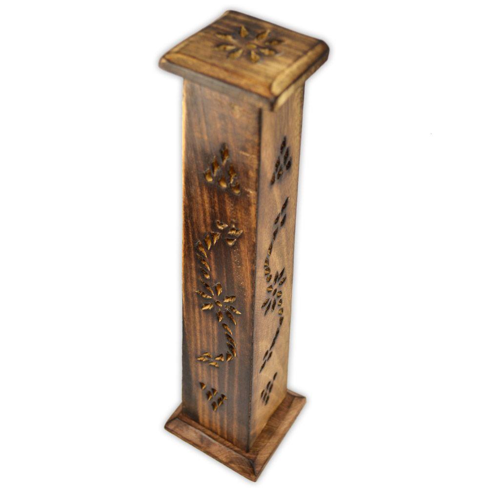Incensário torre em madeira