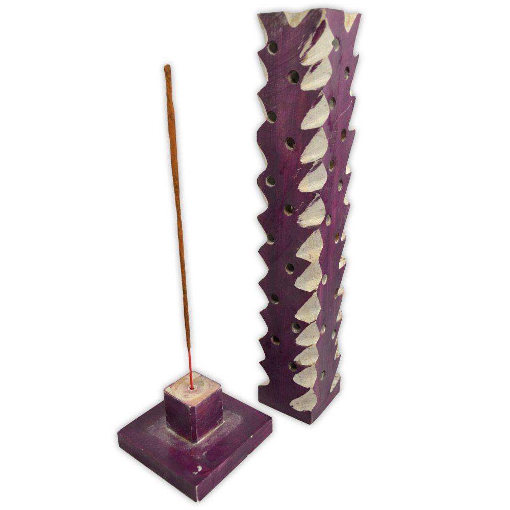Incensário Torre Pedra Sabão (3)