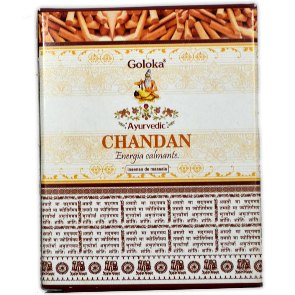 Incenso Cone de Massala Chandan - Energia Calmante (para incensário cascata)