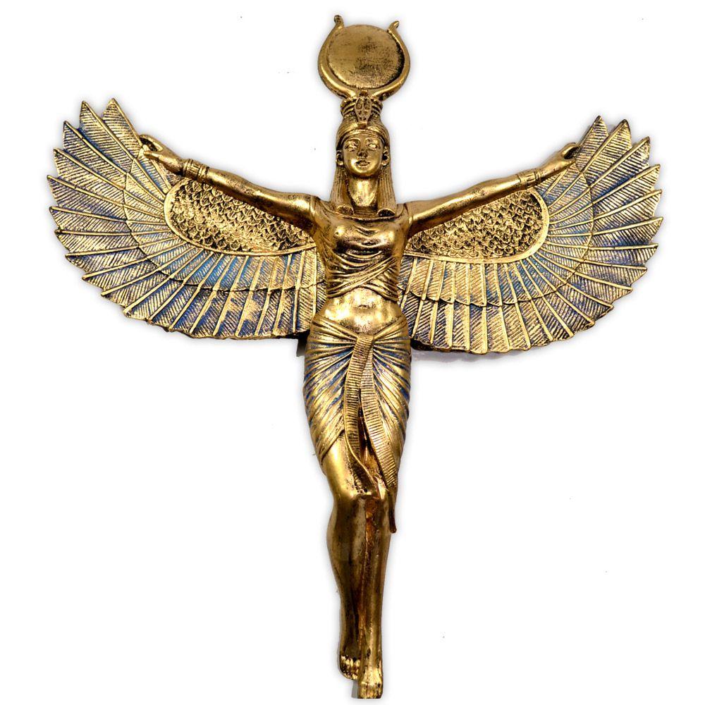 Deusa Ísis de parede - Dourada