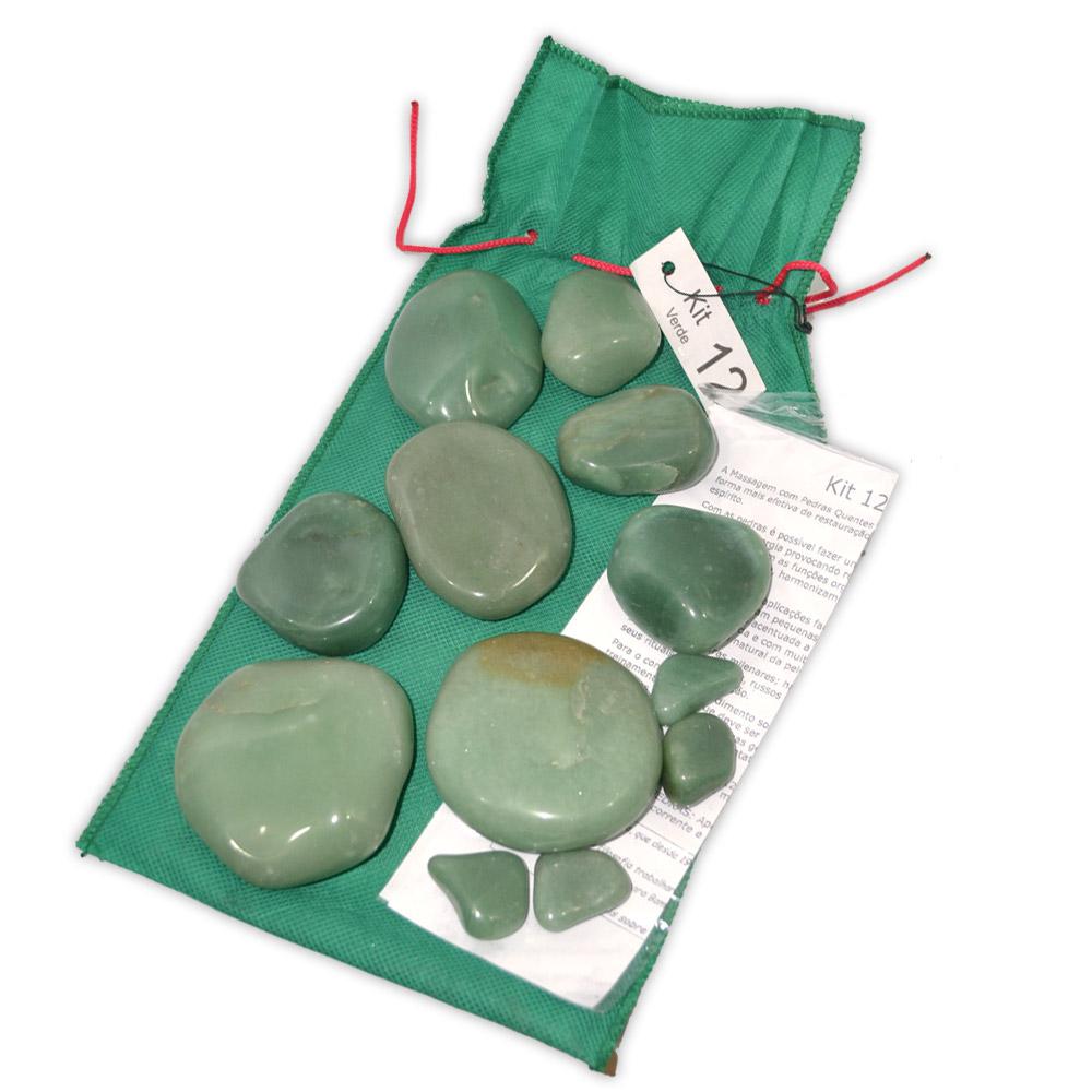 Kit 12 Pedras - Quartzo Verde