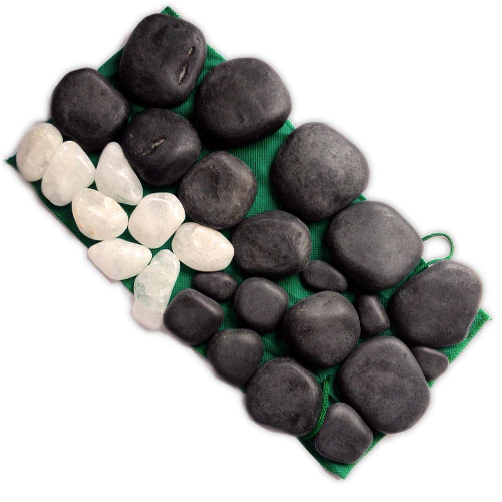 Kit 35 Pedras - Basalto Vulcânico