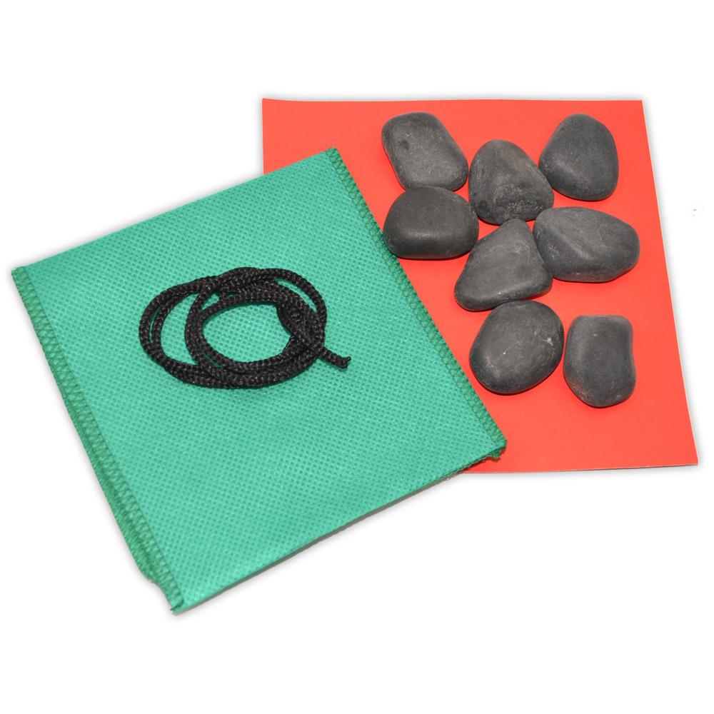 Kit 8 Pedras Faciais - Basalto Vulcânico