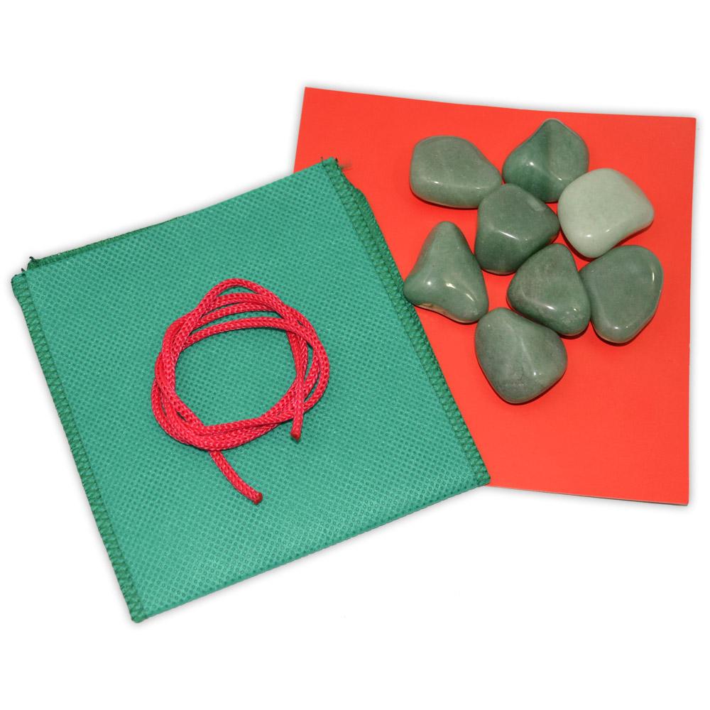 Kit 8 pedras Facial - Quartzo Verde
