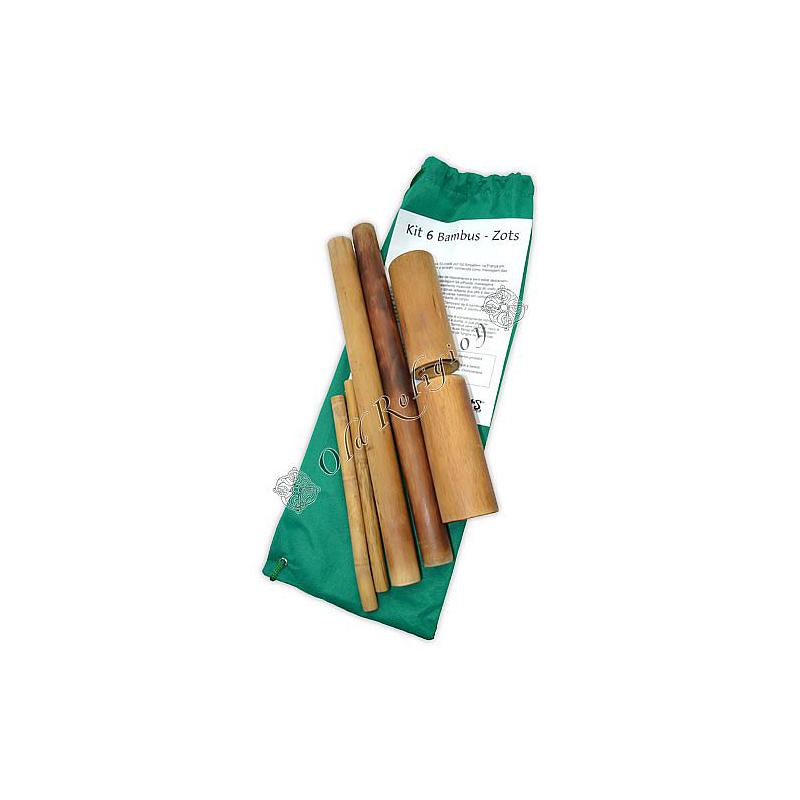 Kit de Bambus para Massagem - 6 Bambus