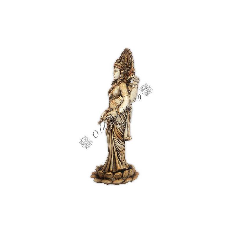 Lakshmi na Flor de Lótus com Cristais