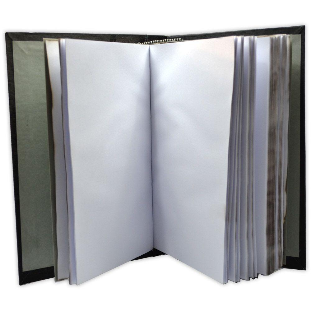 Livro das Sombras de Capa Preta Lisa
