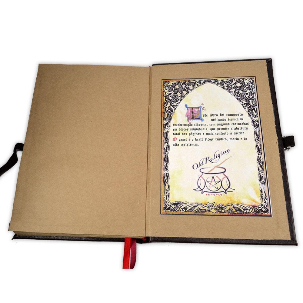 Livro das Sombras 25x17cm - Encadernação Medieval 200fls (13)