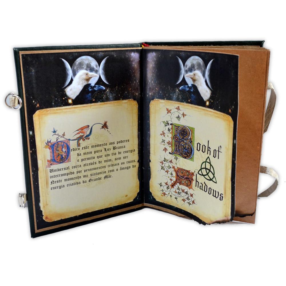 Livro das Sombras - Encadernação Medieval 200fls (3)