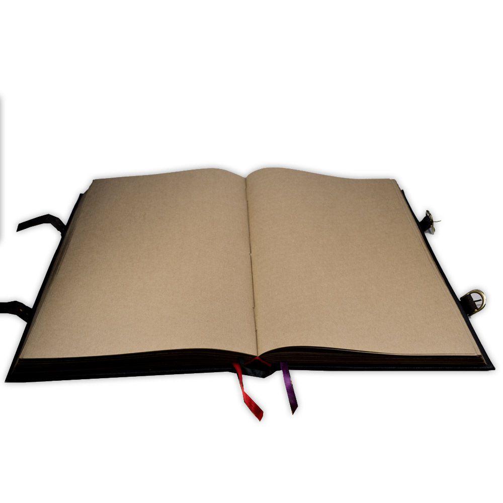 Livro das Sombras - Encadernação Medieval 200fls (4)