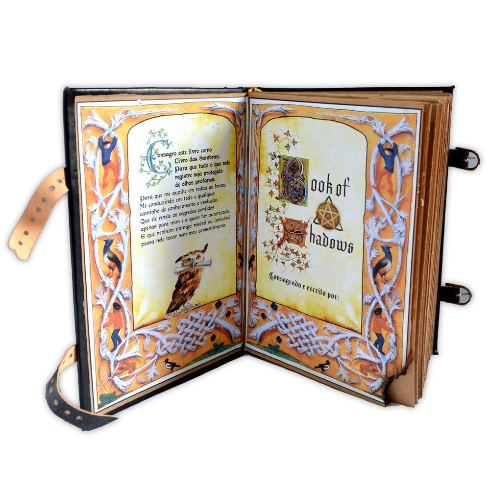 Livro das Sombras - Encadernação Medieval 400fls (2)