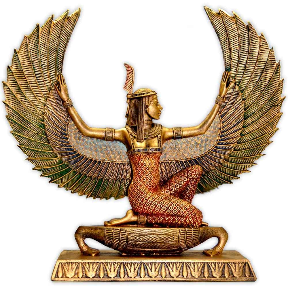 Deusa Maat - Dourada Grande