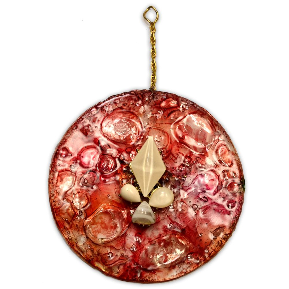 Mandala Vermelha 12cm