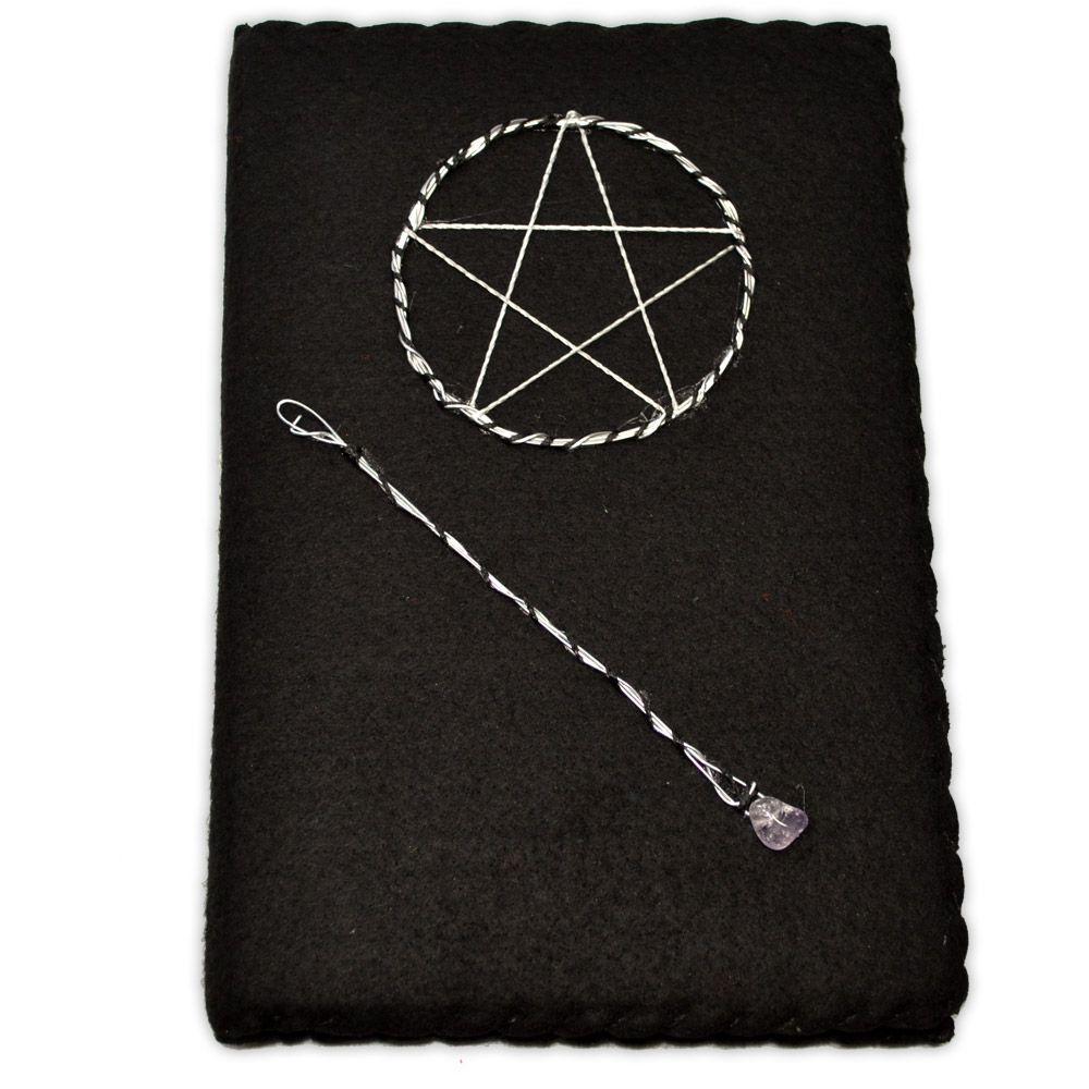 Mini Grimório Preto - Pentagrama