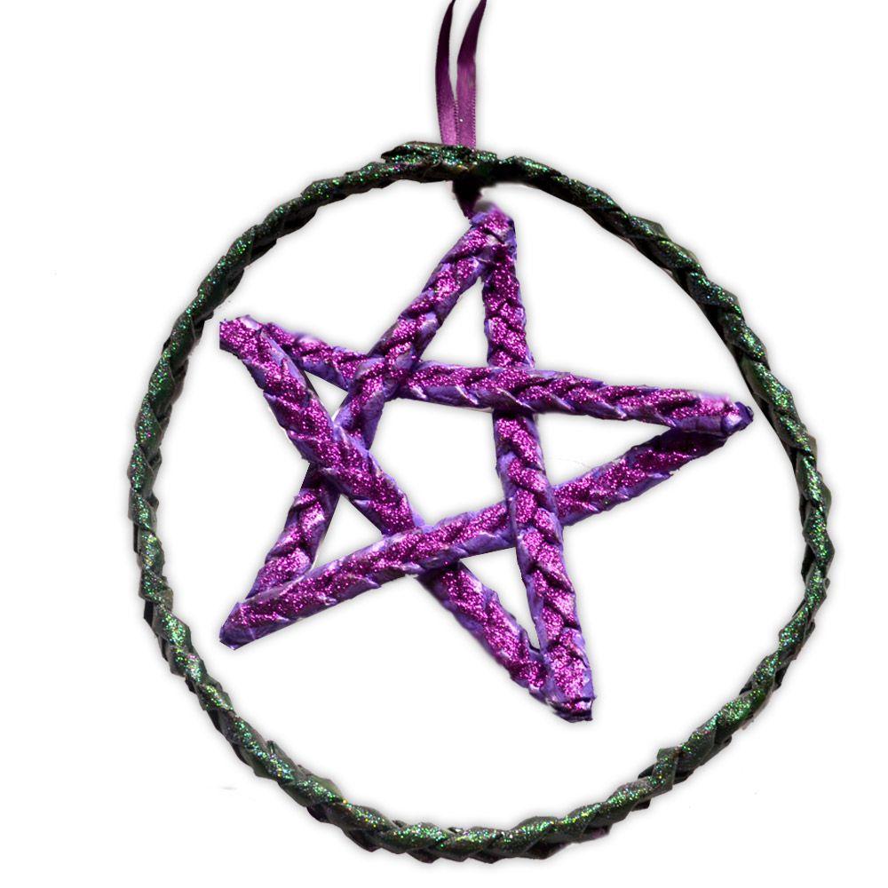 Móbile Pentagrama - Roxo