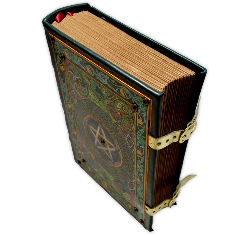 Book Of Shadows Encadernação Medieval 900pg. - Pentagrama
