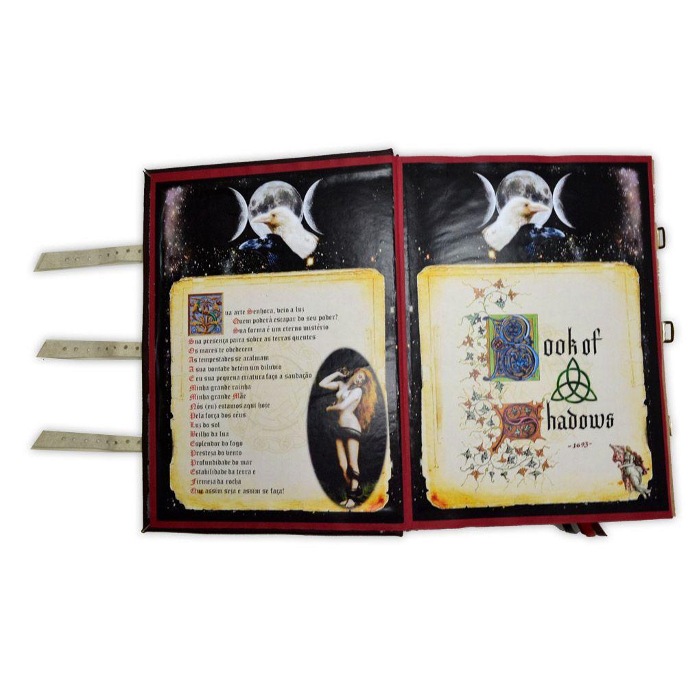Book Of Shadows Encadernação Medieval GRANDE 400pg. - Pentagrama