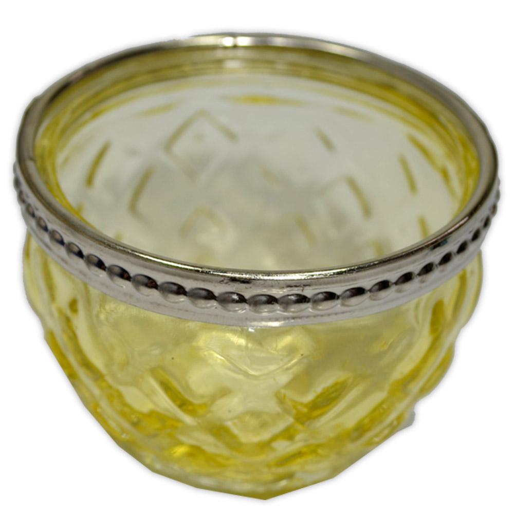 Castiçal de Vidro - Amarelo