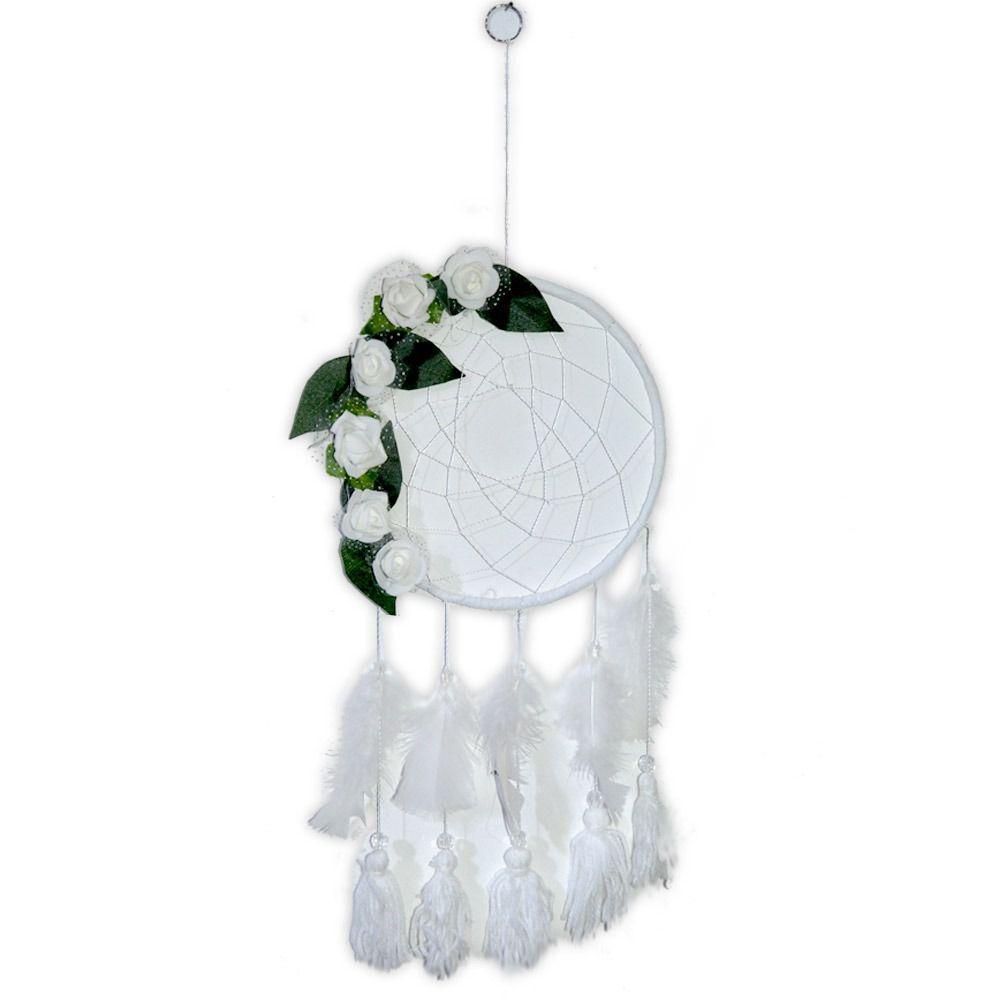 Filtro dos Sonhos Flores - Branco