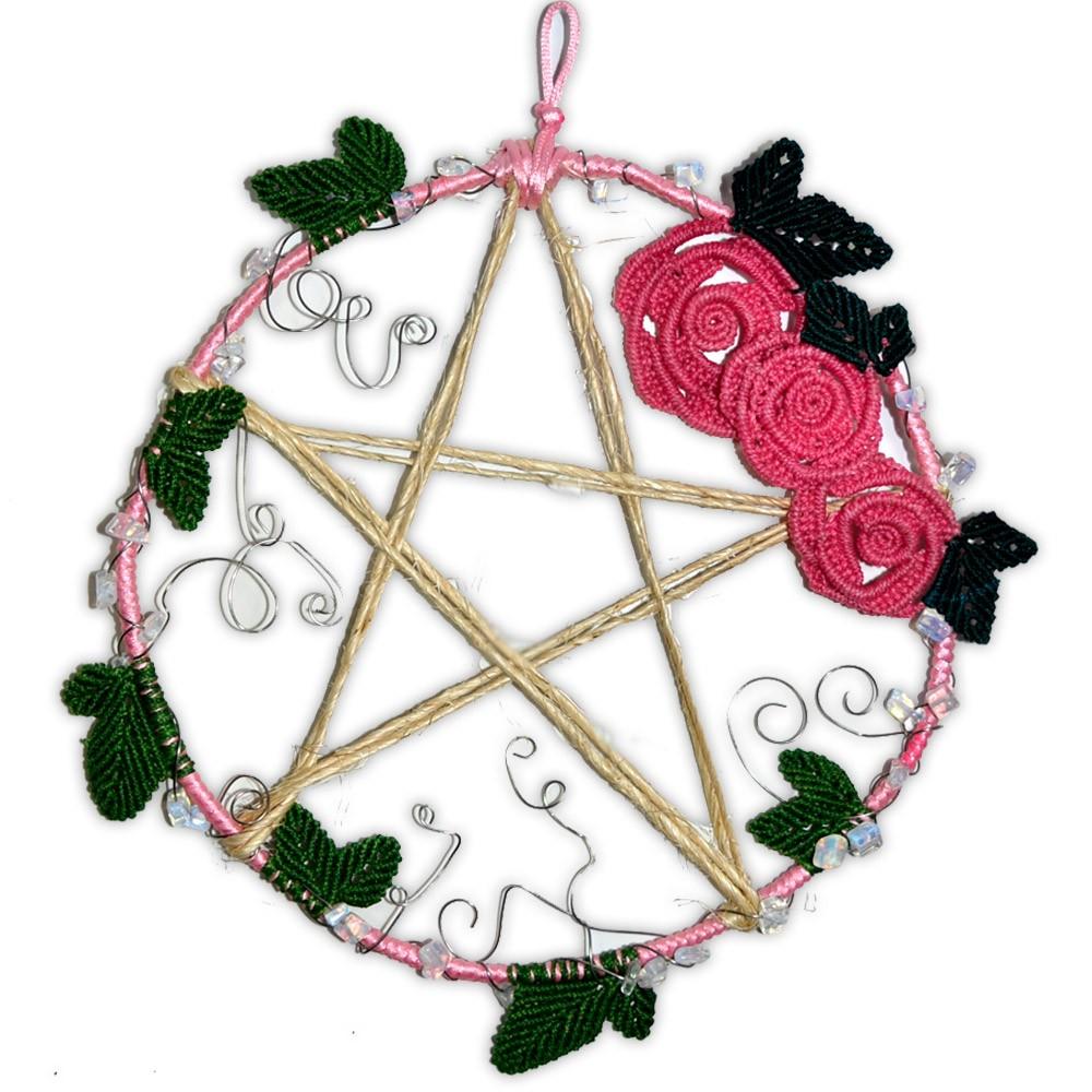 Guirlanda Pentagrama com Rosas