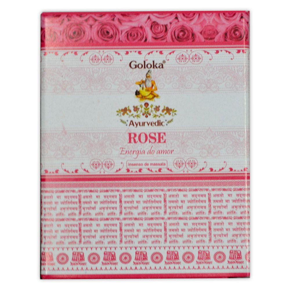 Incenso Cone de Massala Rosas - Energia do Amor (para incensário cascata)