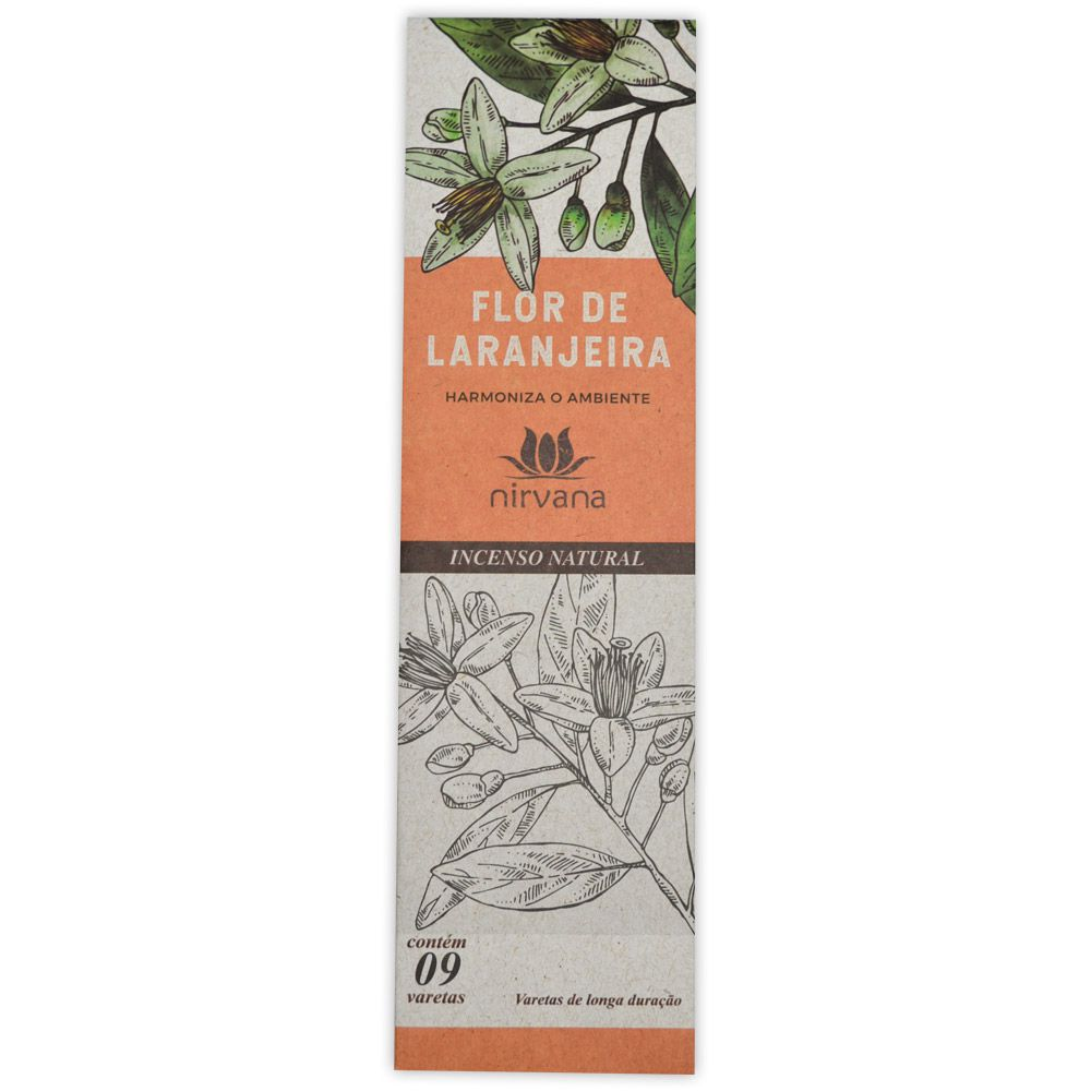 Incenso Natural Flor de Laranjeira - Harmoniza o Ambiente