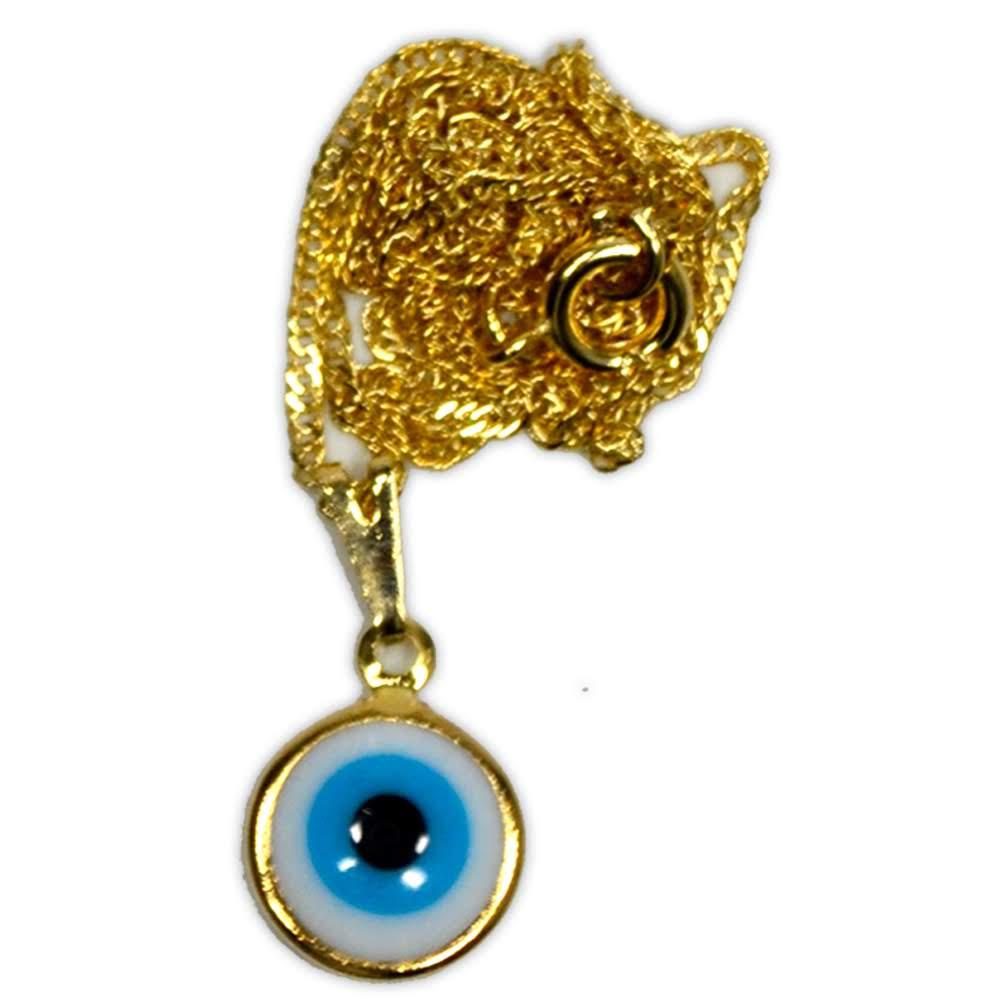Talismã Colar Olho Grego - Dourado mod.2