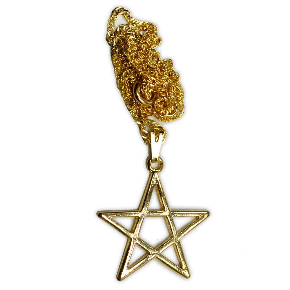 Talismã Colar Pentagrama - Dourado mod. 2