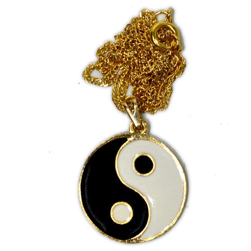 Talismã Colar Yin Yang - Dourado