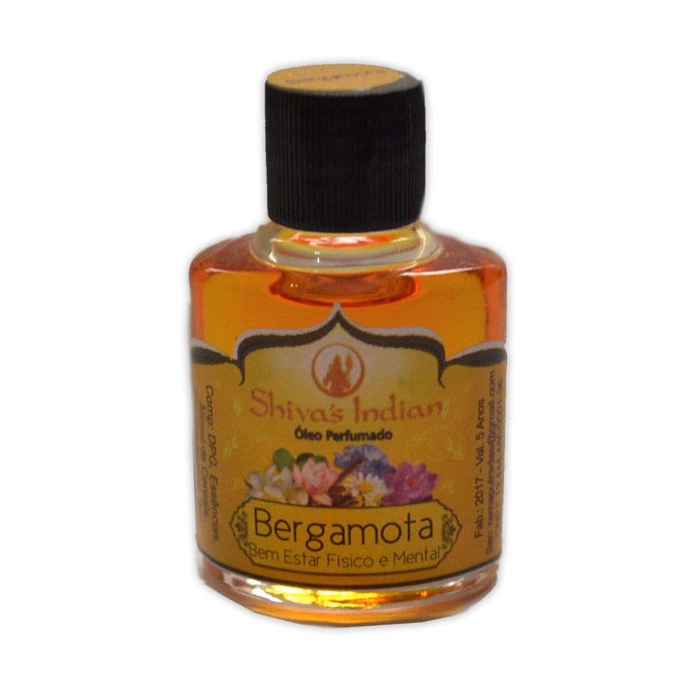 Óleo Shivas Indian Bergamota - Bem Estar Físico e Mental