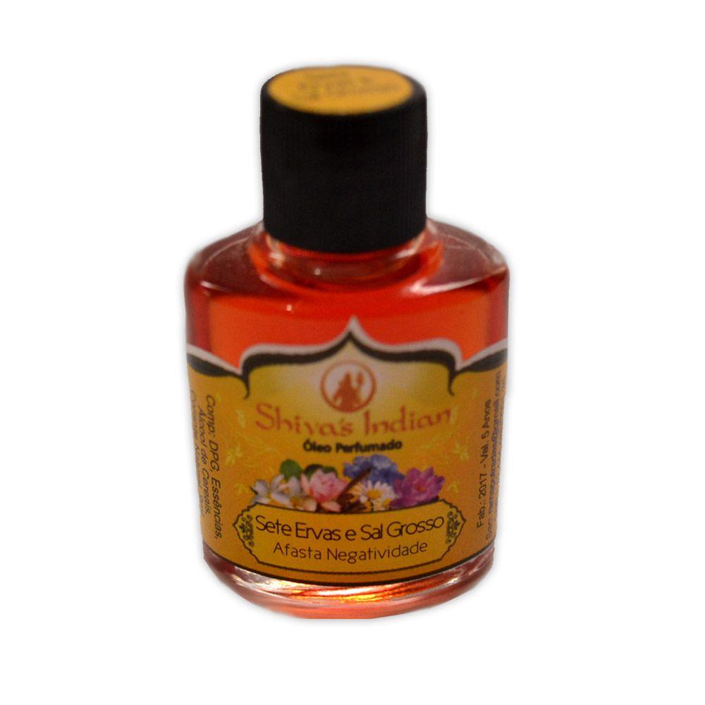 Óleo Shivas Indian - Sete Ervas e Sal Grosso