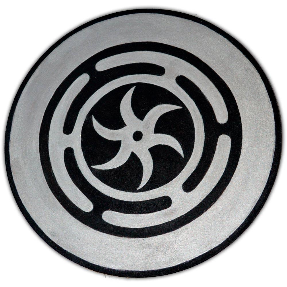 Pantáculo 20cm prata - Roda de Hécate ou Strophalos