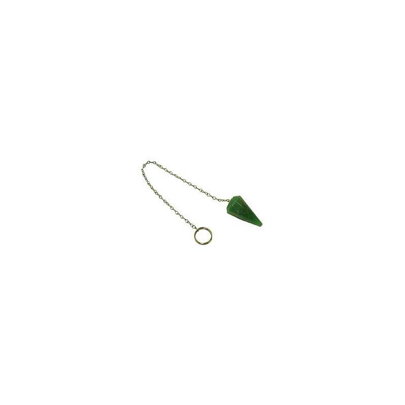 Pêndulo Facetado Quartzo Verde